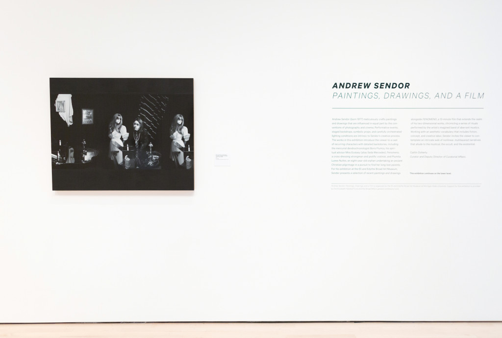 Andrew Sendor, Installation view, Eli and Edythe Broad Art Museum, MSU, Image courtesy of the artist and Sperone Westwater, 2016