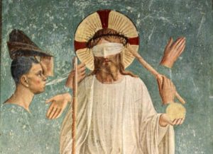 Fra Angelico, Mocking of Christ (detail), Italian, 1440-1443, Florence, Convent of San Marco