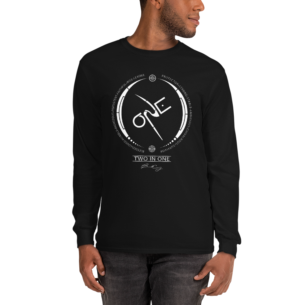 Men's Black Long-Sleeve Shirt