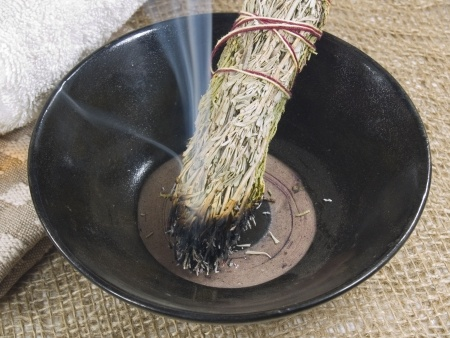 purifying with sage for energy protection