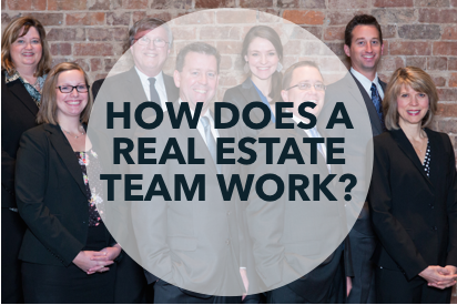 How does a real estate team work