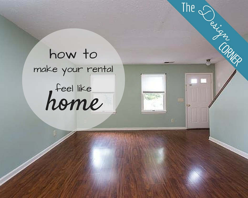 The Design Corner   How to Decorate a Rental
