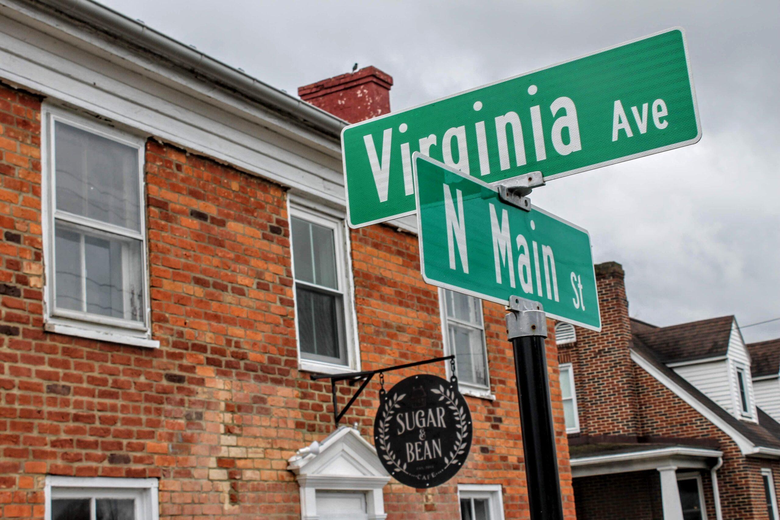 Road Sign of Sugar & Bean Cafe