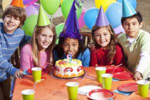 Having fun at the Birthday Party
