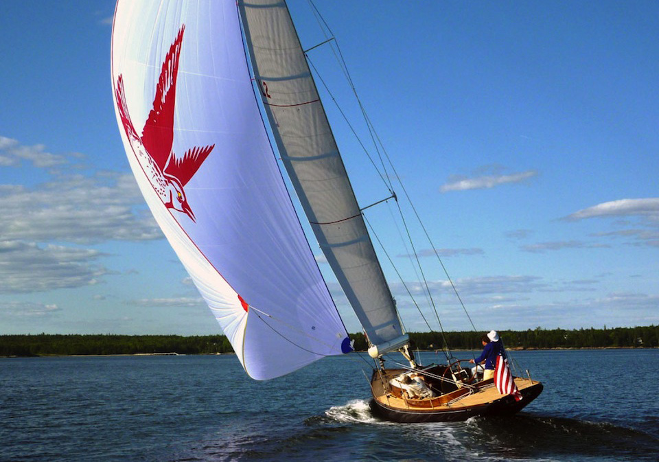 Lark 47' Spirit of Tradition Sloop designed by Brooklin Boat Yard
