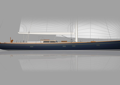 Design Concept for 82 Foot R08 Brooklin Boat Yard