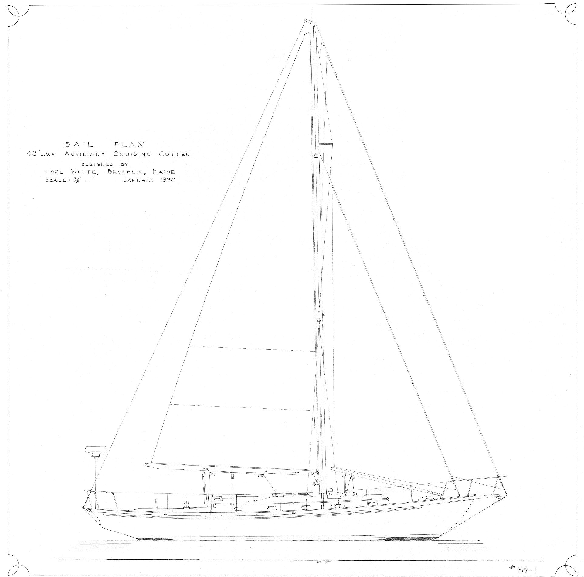 43' Sweet Olive Cutter JW#37 sailplan update2