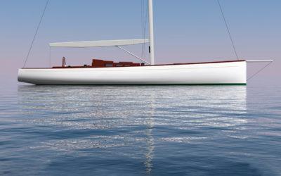 Brooklin Boat Yard Building Botin 55 Sloop
