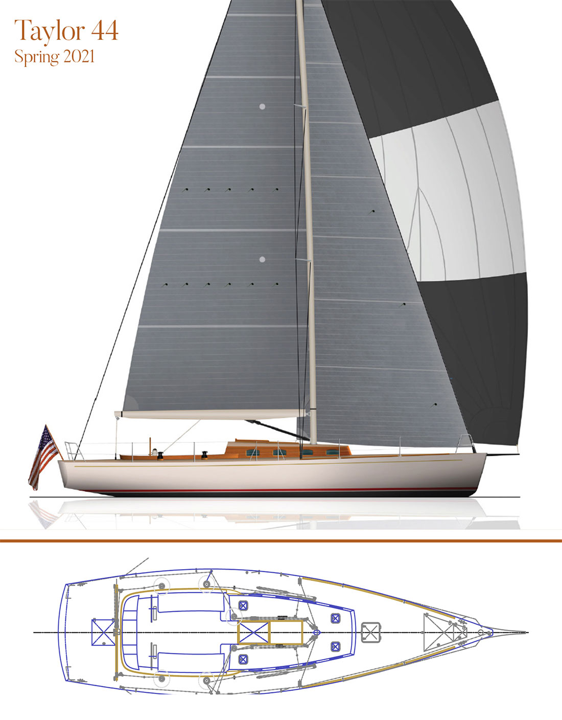Jim Taylor Designed 44' Performance Day Boat