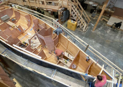 Jim Taylor Performance Day Boat in progress photos