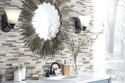 tile stone backsplash bathroom flooring