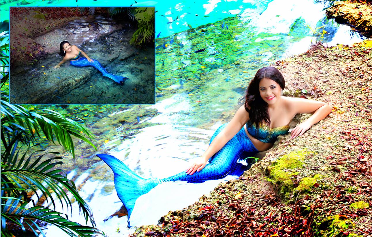 Quinceanera Photo shoot mermaid montage