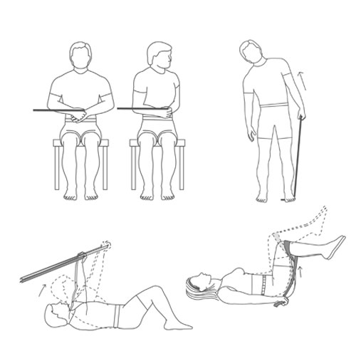 Condicionamento Físico Resistência Flexibilidade Faixa Elástica Fisioterapia Reabilitação Pilates Yoga Fitness Musculação