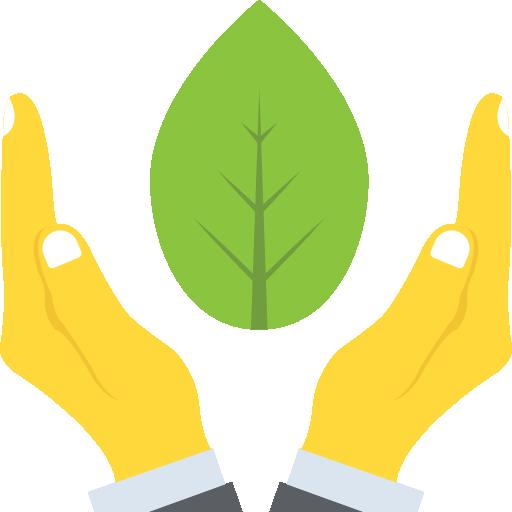 hads protecting plants, landscape maintenance symbol