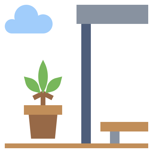 terrace garden artist depiction icon