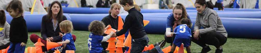 coaches during soccer 2's with parents