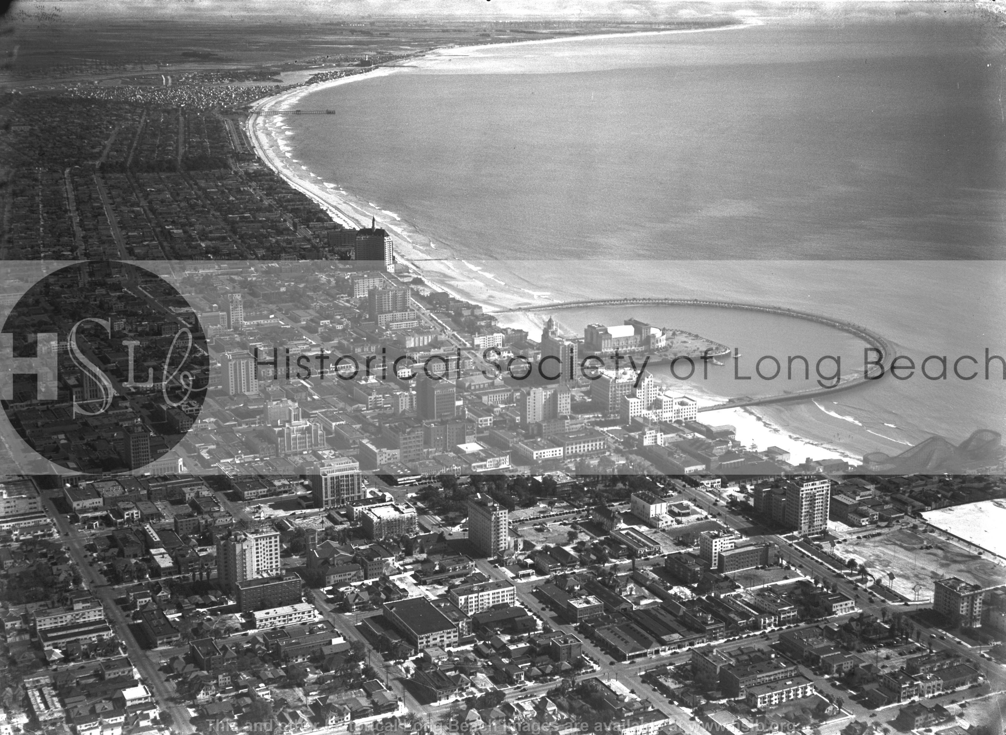 Long Beach aerial, 1937