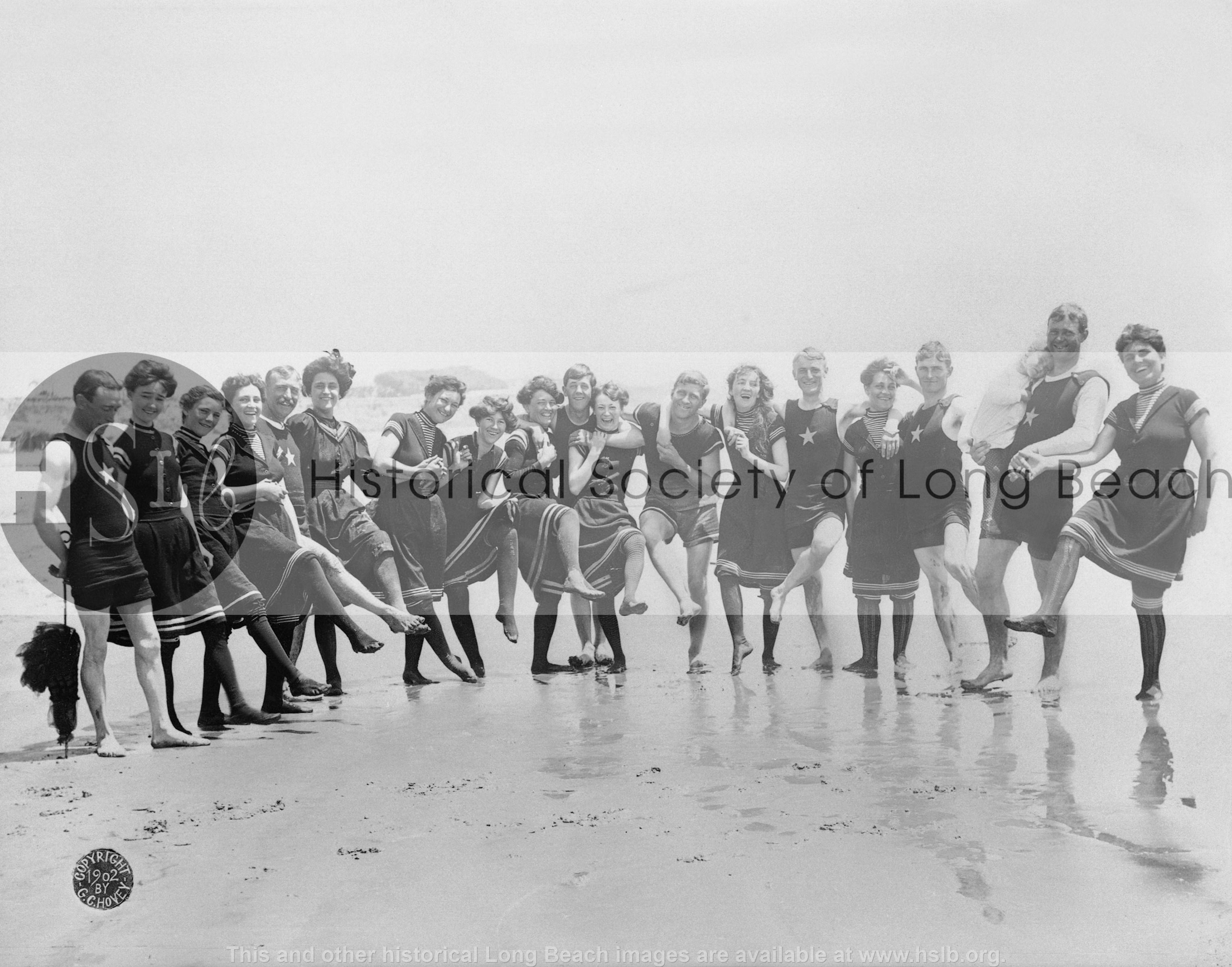 Bathers on beach, c. 1902