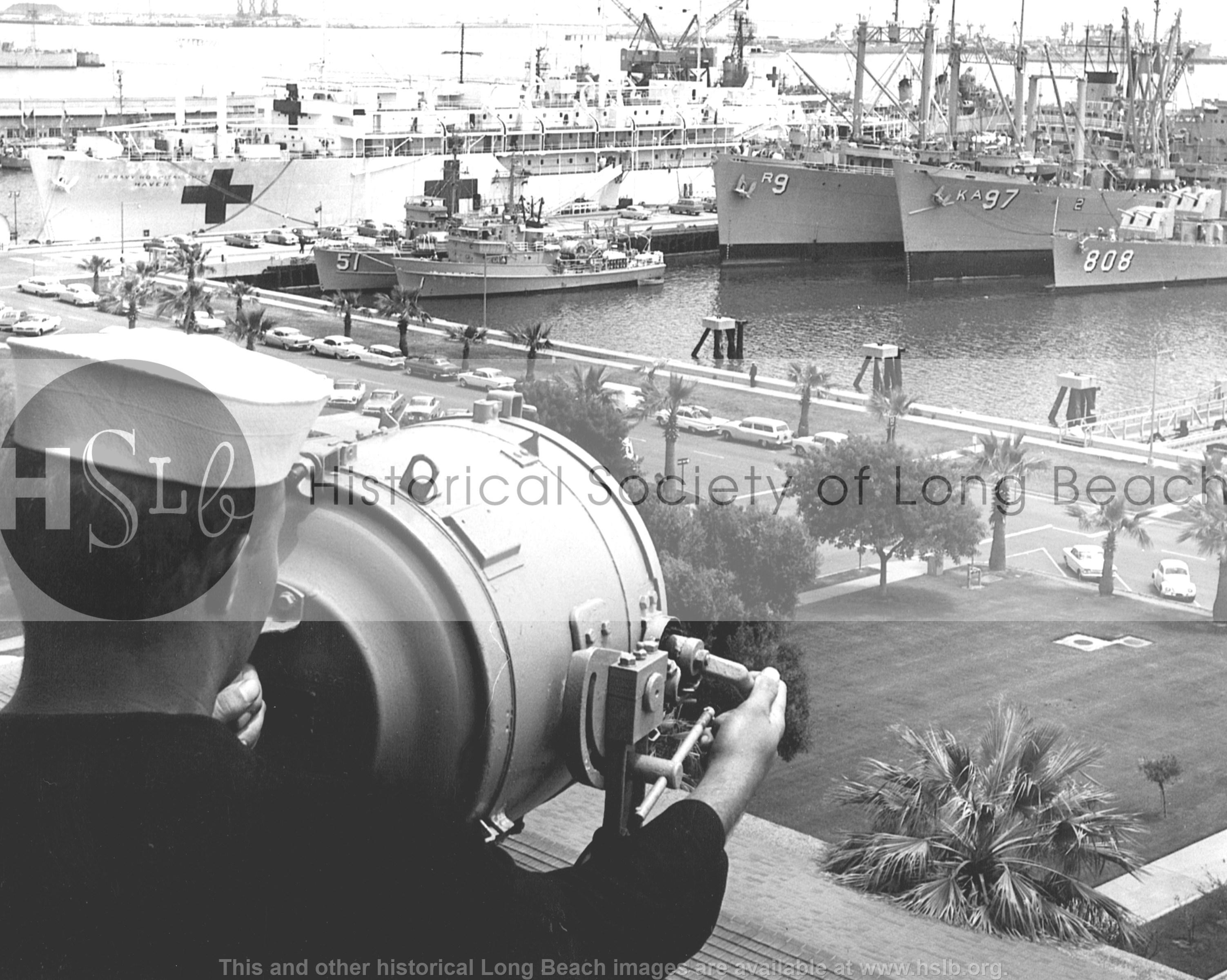 Navy harbor lookout, c. 1950s