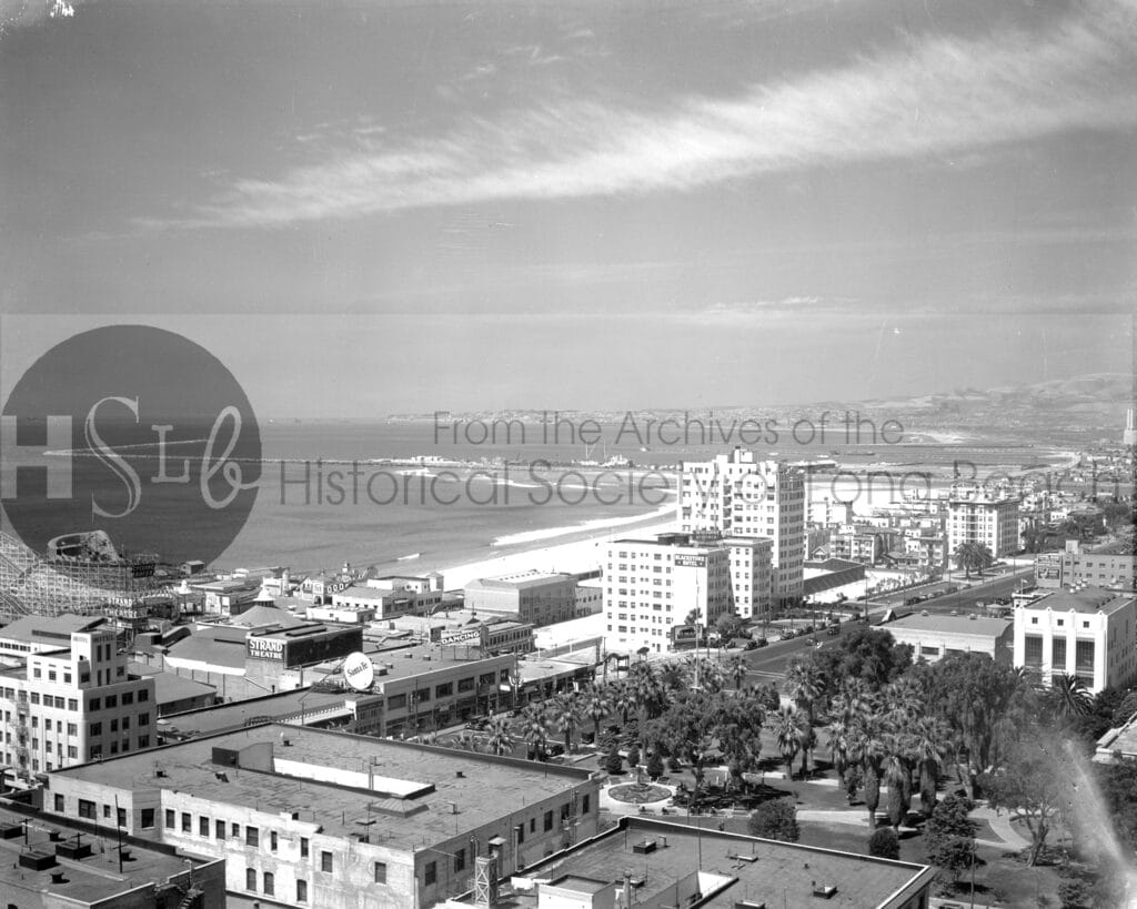 Downtown rooftop view looking west, 1934