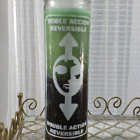 Green and Black Reversible Candle – Debt, Bill or Creditor Banishing Candle Spell