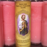 Free Candle Spells | Saint Jude Pink Love Come to Me Candle Kit