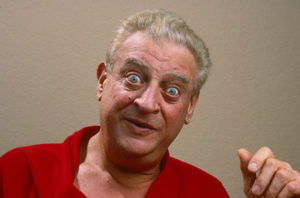 a wide-eyed Rodney Dangerfield