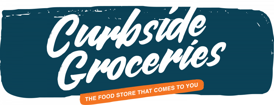 Logo and Tagline: Curbside Groceries - The Food Store That Comes to You