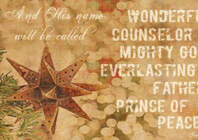 Pray America Great Again Isaiah 9 6 Wonderful Counselor Prince Of Peace Christmas