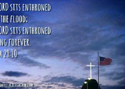Pray America Great Again PAGA Psalm 29_10