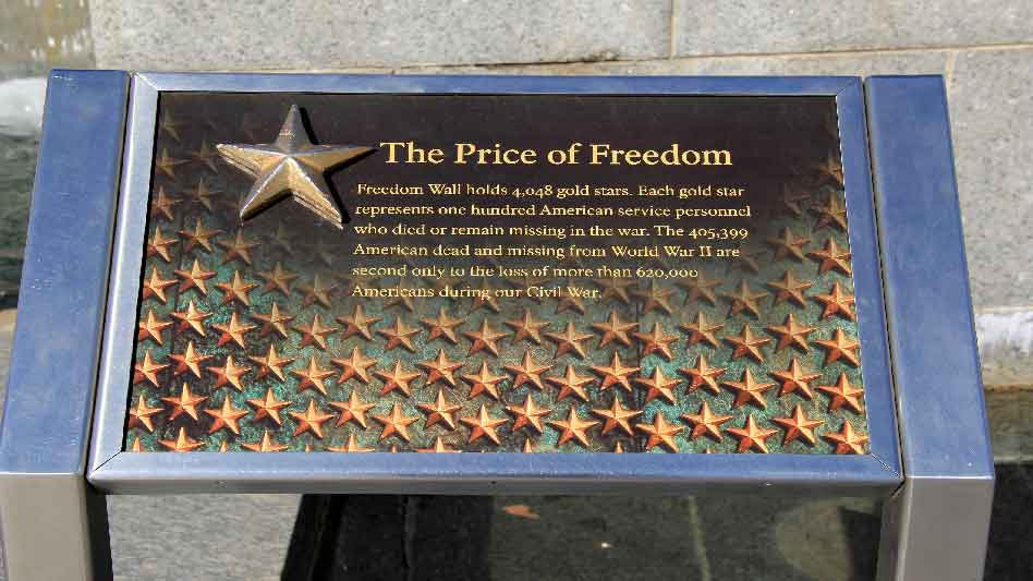 Pray America Great Again WWII Memorial Freedom Wall Marker