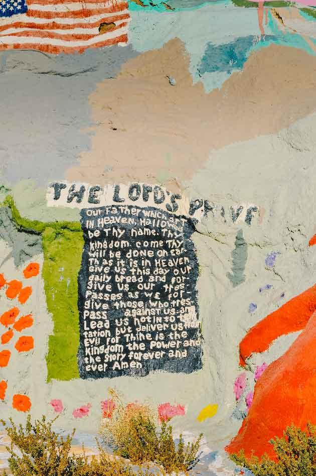Pray America Great Again Niland California Salvation Mountain The Lords Prayer