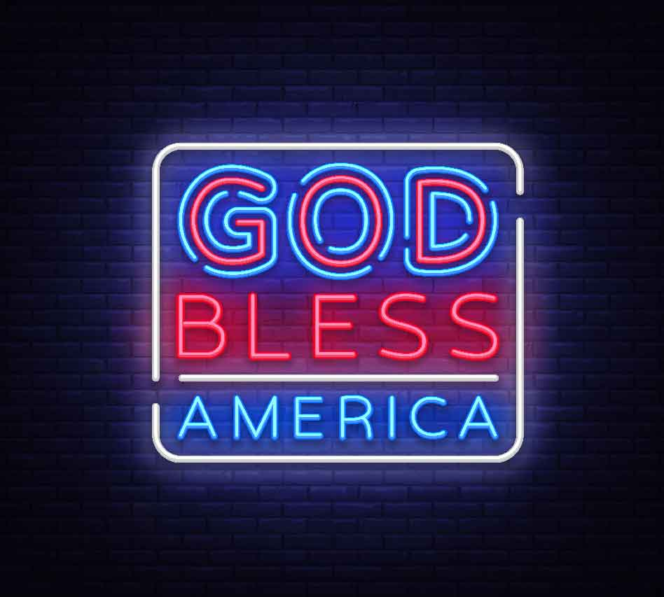 Pray America Great Again God Bless America Neon