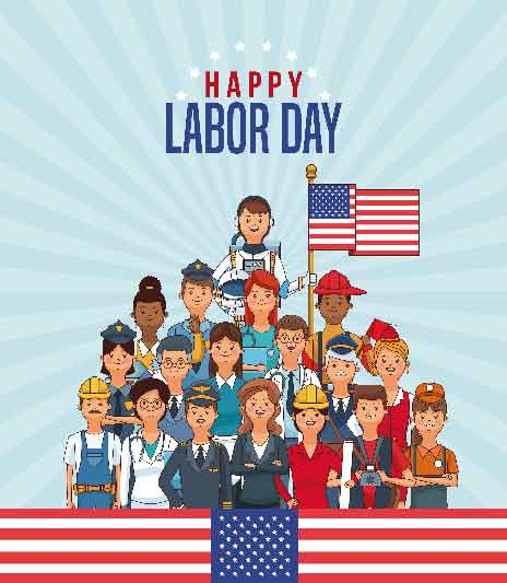 Pray America Great Again Happy Labor Day American Workers