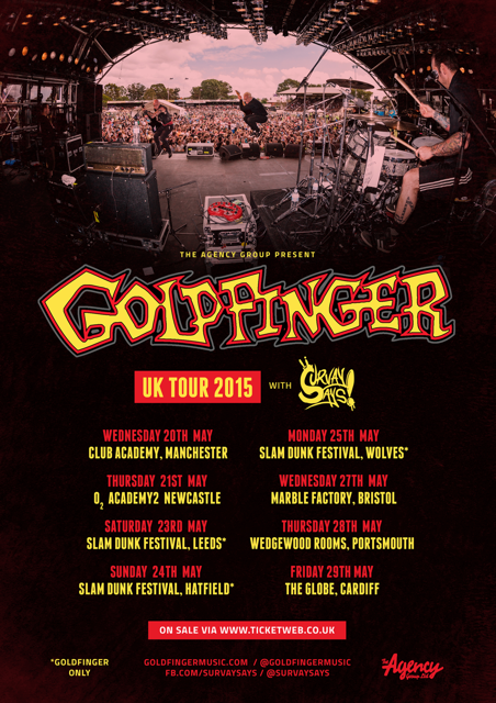 UK TOUR POSTER goldfinger