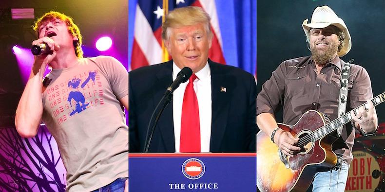 3 Doors Down, 4,200 Joints, Trump & Toby Keith