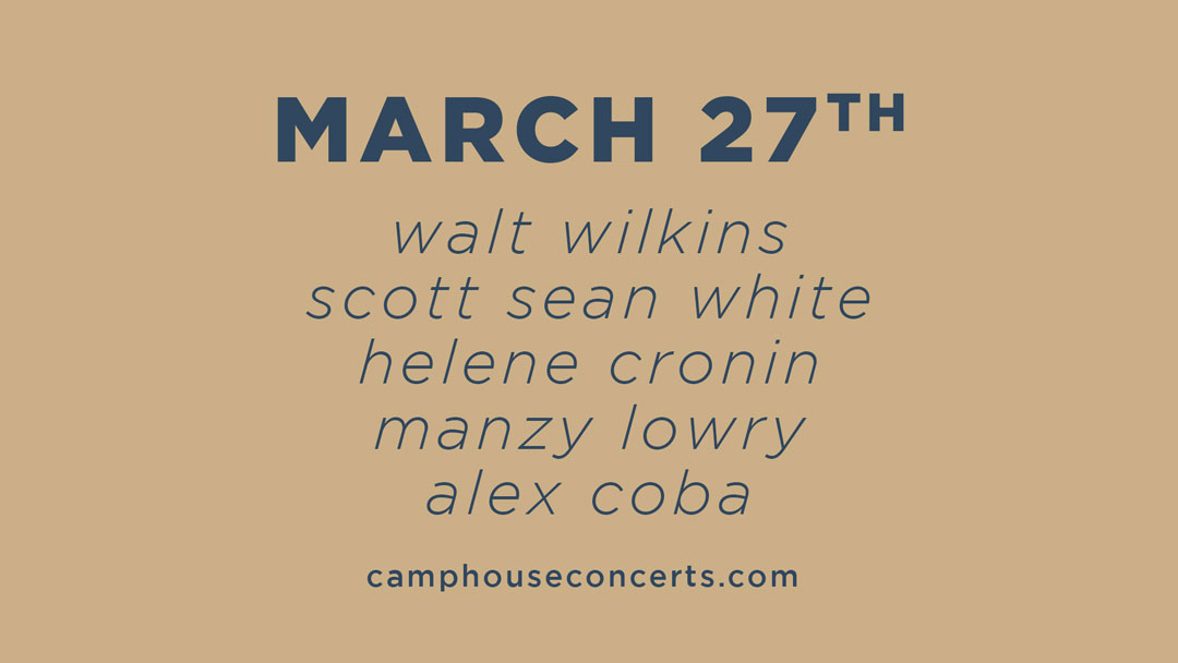 "Press Release – ""Scott Sean White & Friends"" – March 27th 2021"