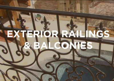 Exterior Railings and Balconies