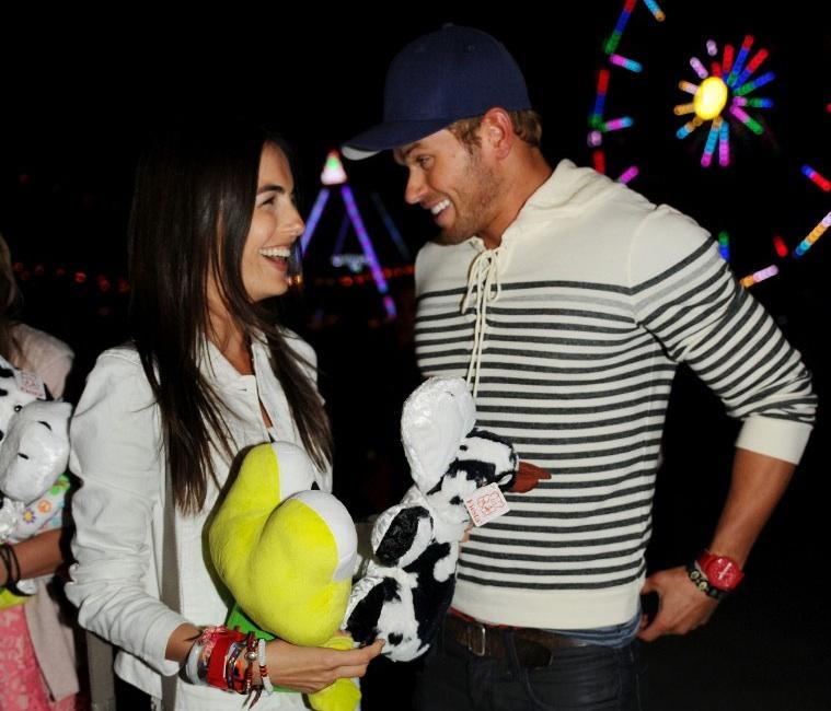 Celebrity Spotlight on Usher, Emma Roberts, Paris Hilton at A|X & T-Mobile Neon Carnival