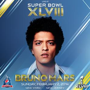 BRUNO MARS TO PERFORM DURING PEPSI SUPER BOWL XLVIII HALFTIME SHOW FEBRUARY 2 ON FOX