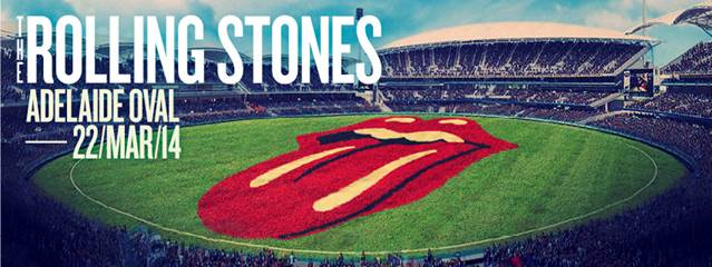 THE ROLLING STONES SET TO ROCK AUSTRALIA AT THE BRAND NEW ADELAIDE OVAL