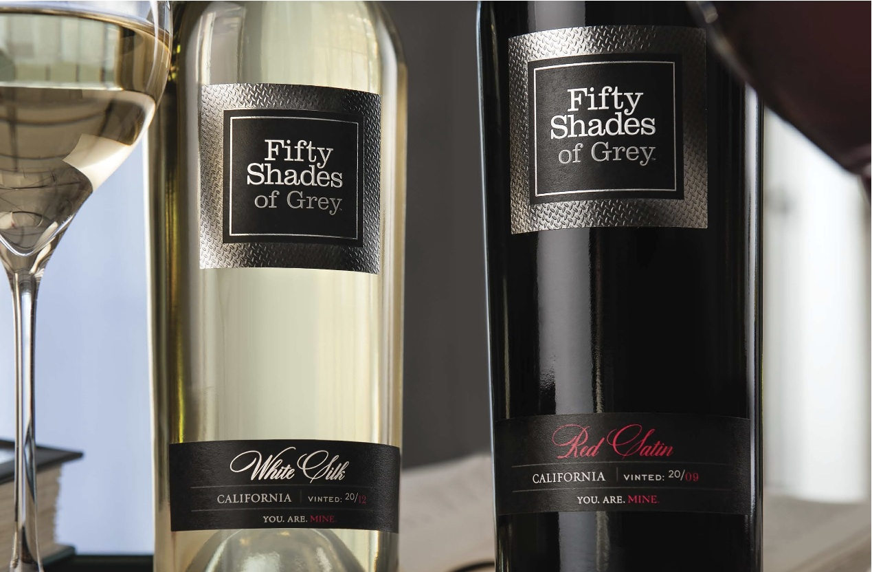 Fifty Shades of Grey Holiday Gift News: Yes To The White Silk & Red Satin Wines From EL James