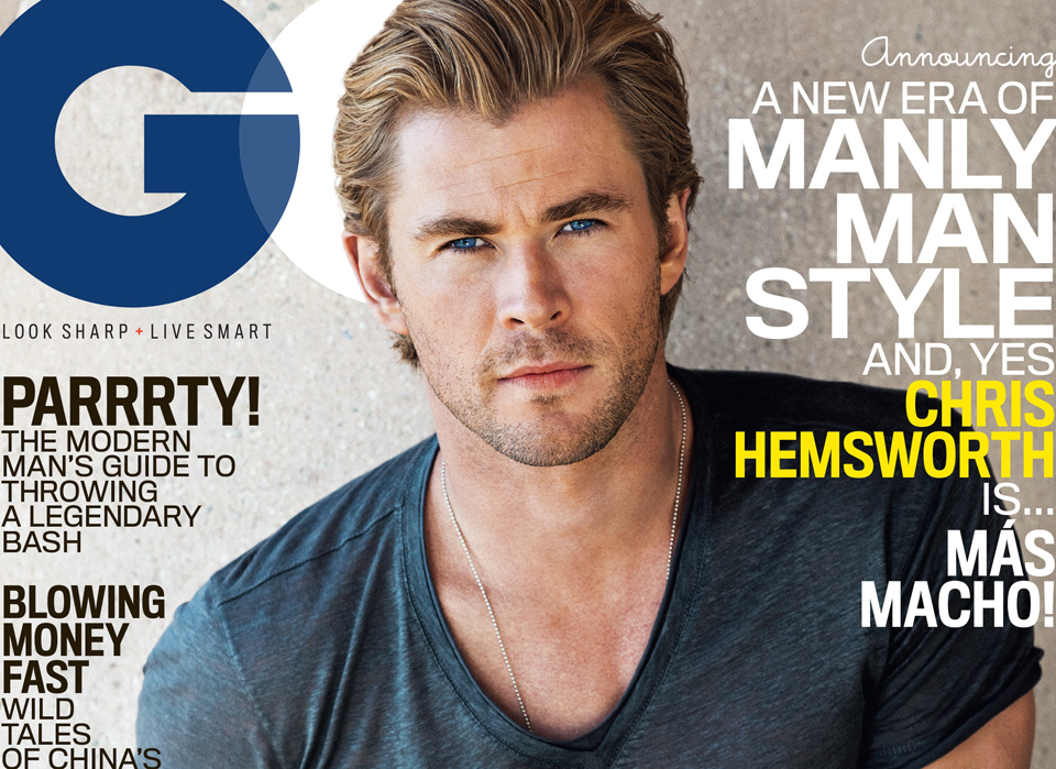 Chris Hemsworth, GQ's January Feature Spotlight 2015
