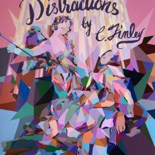 THE DIVINE DISTRACTIONS, Paintings by C. Finley at Superchief Gallery LA