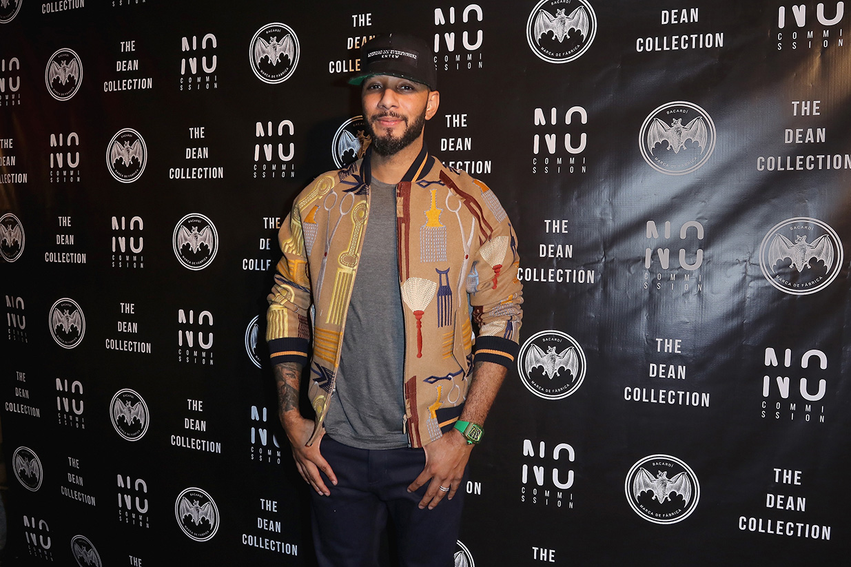 MIAMI, FL - DECEMBER 02:  Recording artist/producer Swizz Beatz attends No Commission Art Fair & Untameable House Party Concert Series Presented By BACARDI X The Dean Collection - VIP Press Preview on December 2, 2015 in Miami, Florida.  (Photo by John Parra/Getty Images for Bacardi) *** Local Caption *** Kasseem Dean