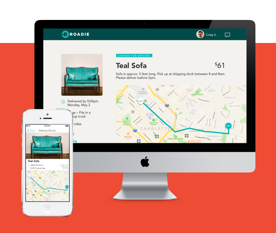 Roadie, New App That Allows people to make extra money