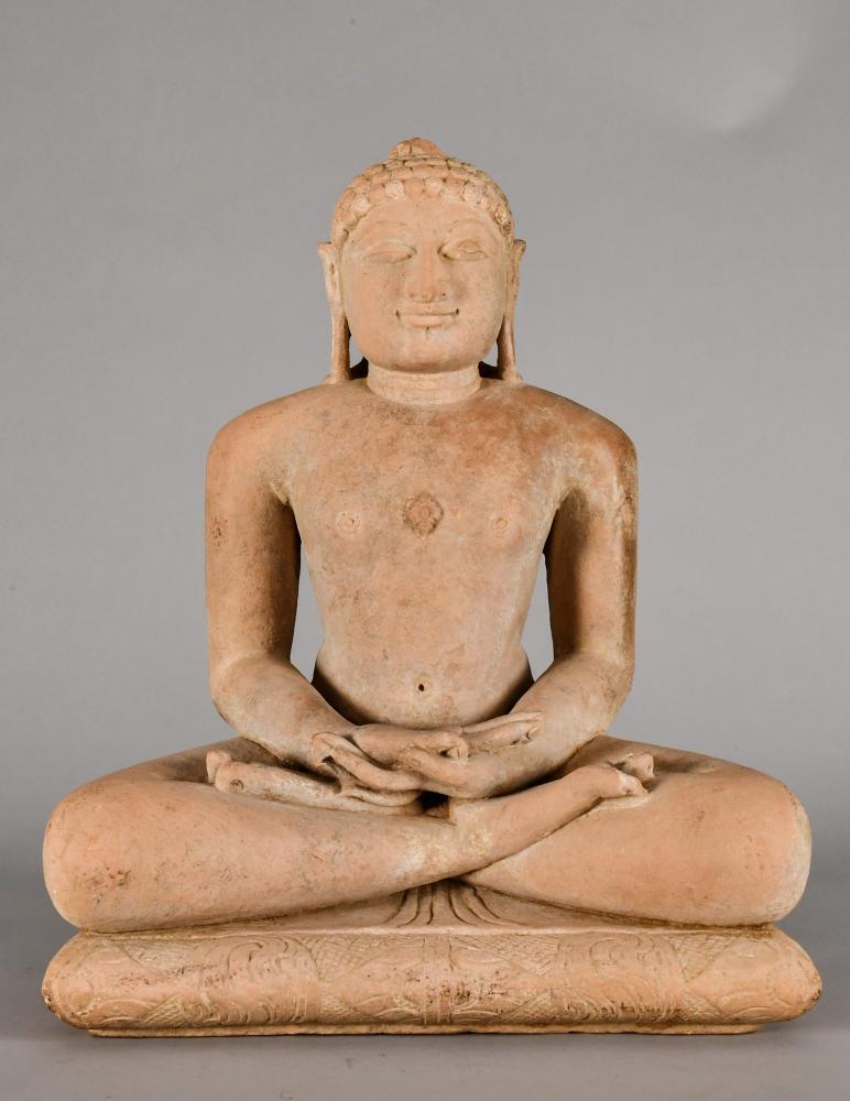 A Carved Sandstone Jina