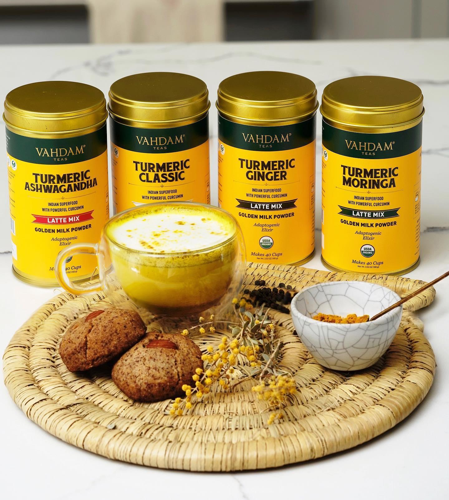 VAHDAM, Turmeric Saffron Herbal Tea, India's Magic Herb To Drink
