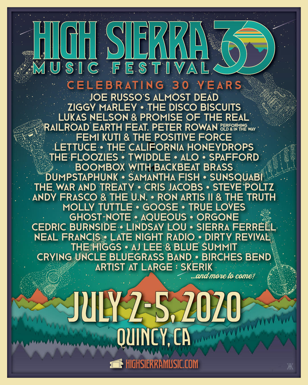 Ziggy Marley Set To Perform At High Sierra Music Festival 30th Year Celebration
