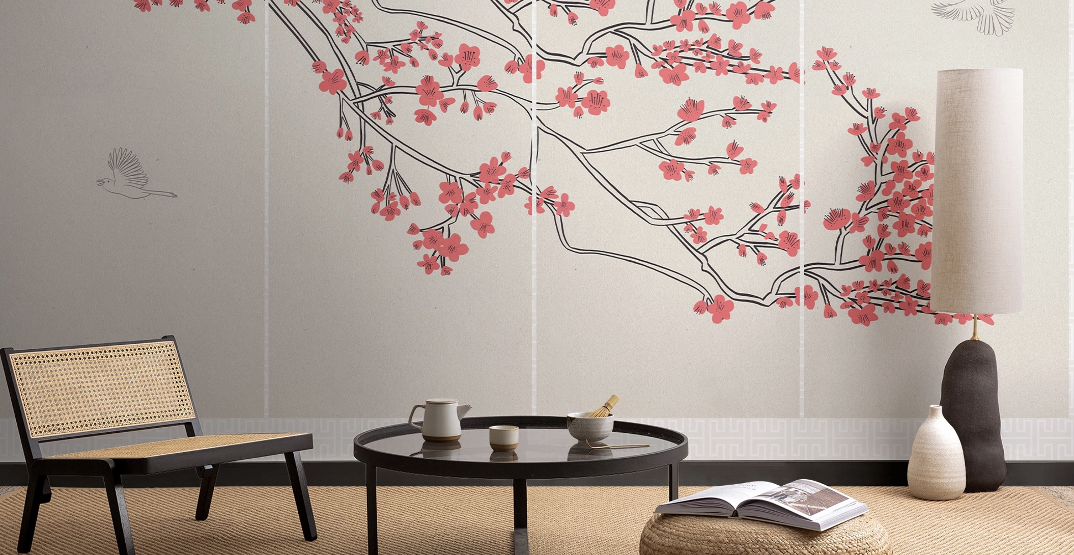 Murals inspired by Japanese design